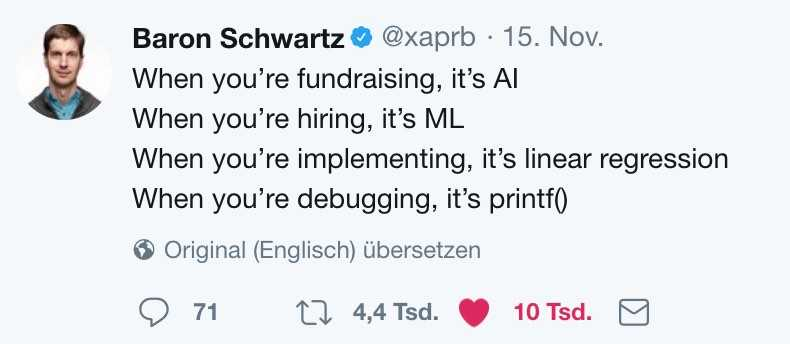 machine learning buzzwords