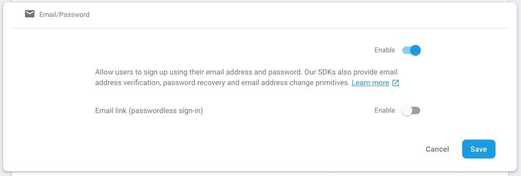 firebase login email password